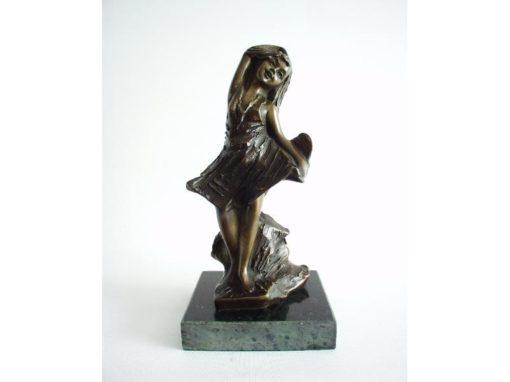 Meisje danseres brons 18cmH