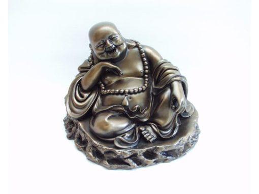 Boeddha zittend lachend 12cmH