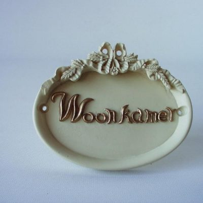 Deurbordje Woonkamer 12cmLx10cmH