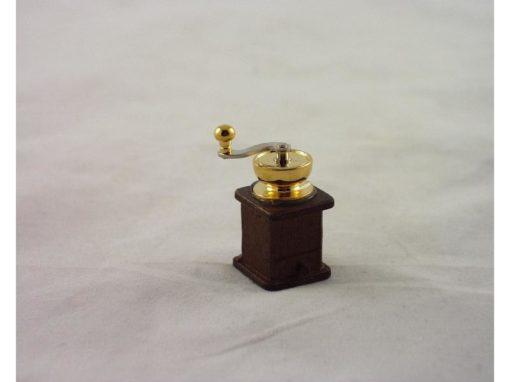 Koffiemolen hout miniatuur 3.5cmH
