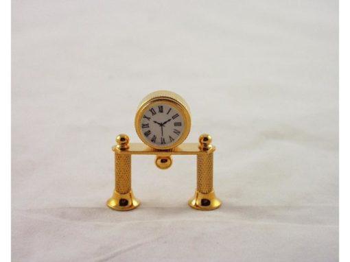 Pendule op pootjes miniatuur 4cmH