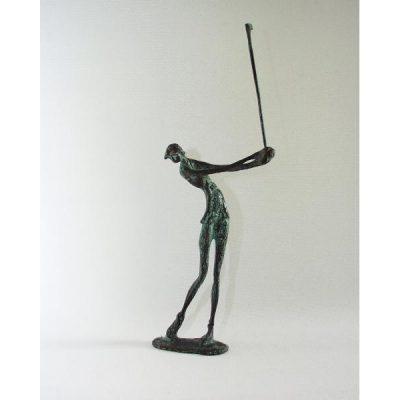 Golfster staand antique verdigris 35cmH