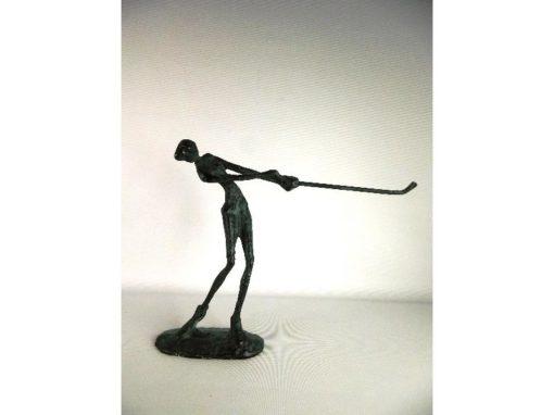 Golfster staand antique verdigris 20cmH