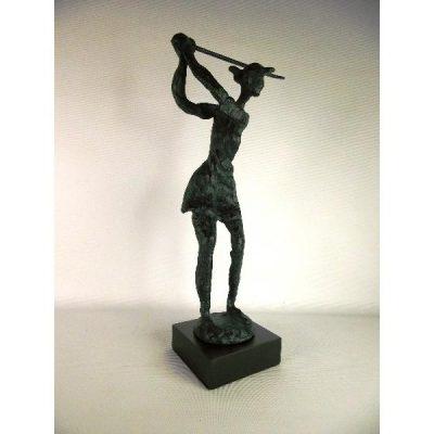 Golfster modern antique verdigris 31.5cmH