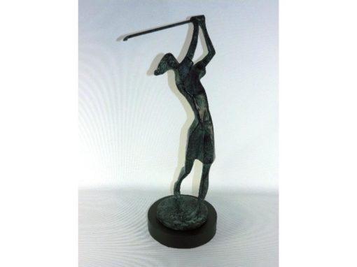 Golfster antique verdigris op voet 36cmH
