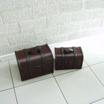 Kisten set 2-dlg 25x18x18cmH 21x14x14cmH