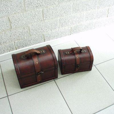 Kisten set 2-dlg 24x17x17cmH, 20x13x13cmH