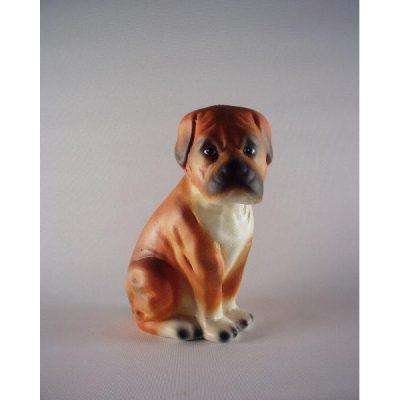 Boxer keramiek zittend klein 15.5cmH