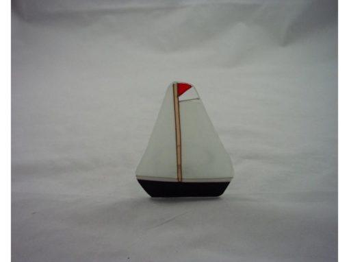 Sfeerlicht glas zeilboot 9cmH