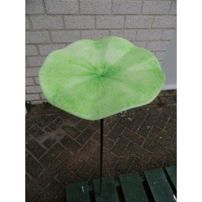 Tuinsteker waterschotel glas groen Ø16cm