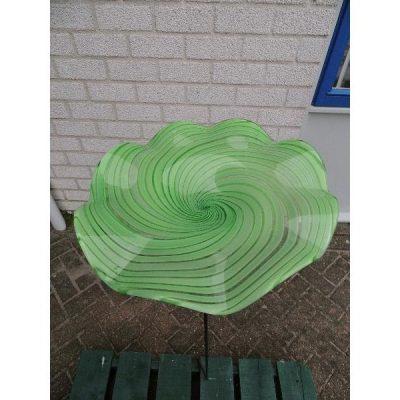 Tuinsteker waterschotel glas groen Ø26.5cm