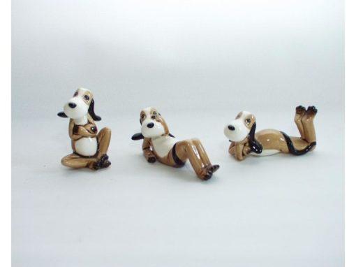 Snoopy hondjes porselein 2x3 assorti 9cmLx6cmH