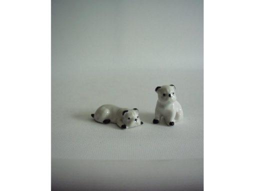 Bulldog wit stel 4.5cmLx3.5cmH