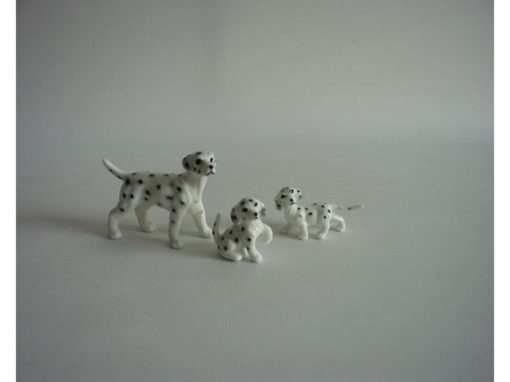 Dalmatiër set glanzend 6cmLx5cmH