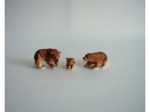 Beren set bruin 4.5cmLx3cmH