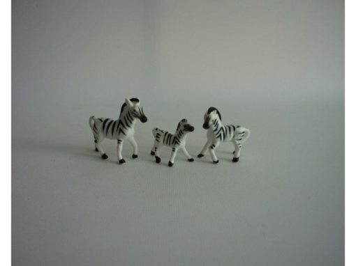 Zebra set 6cmLx5cmH