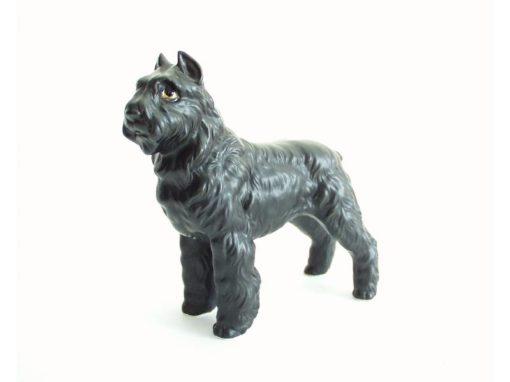 Bouvier porselein zwart 14cmLx13.5cmH