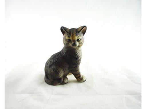 Kat porselein zittend 10cm
