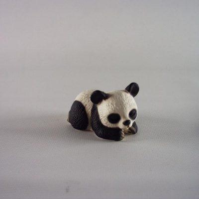 Panda liggend zwart/wit 6cmL