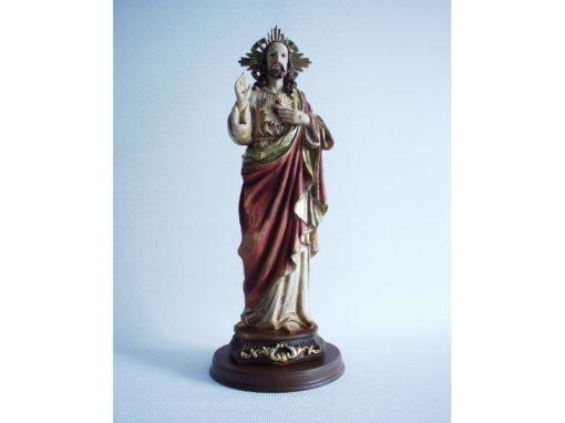 Jezus met hand op hart 30cmH