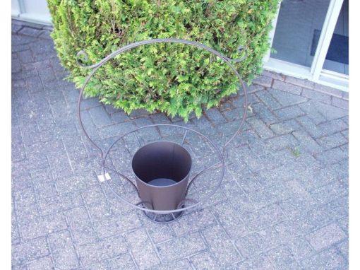 Plantenbak metaal rond Ø50cm 85cmH
