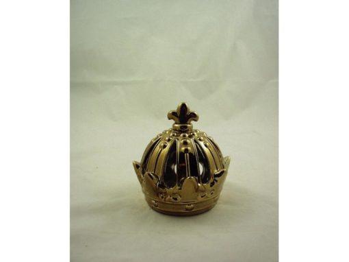 Kroon sfeerlicht keramiek goudkleur 15x15cm