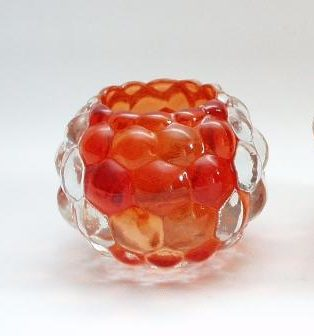 Sfeerlicht glas oranje rond 7cmH