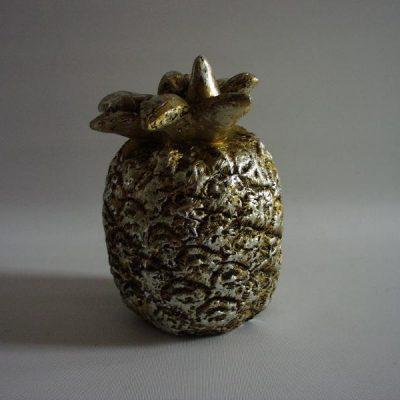 Ananas keramiek antiek zilver 16cmH