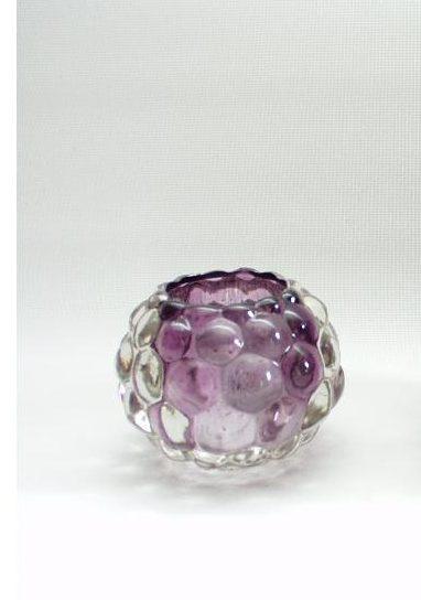 Sfeerlicht glas violet rond 7cmH