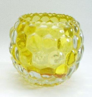 Sfeerlicht glas geel rond 10cmH