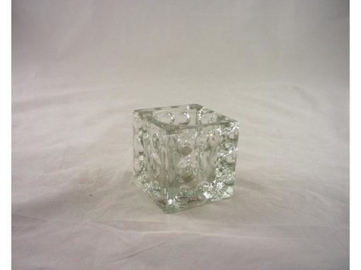 Sfeerlicht vierkant glas helder 6cmH