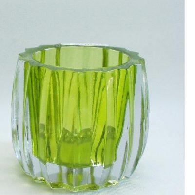 Sfeerlicht glas Star groot groen 8.5cmH