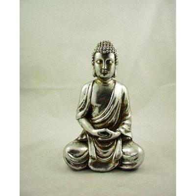 Boeddha zittend zilverkleur