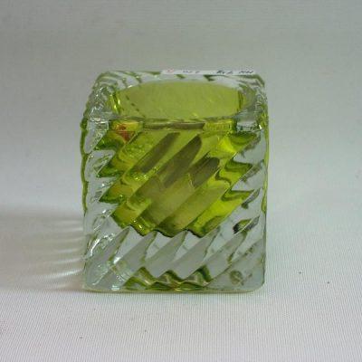 Sfeerlicht glas Diagonal klein groen 5.5cmH