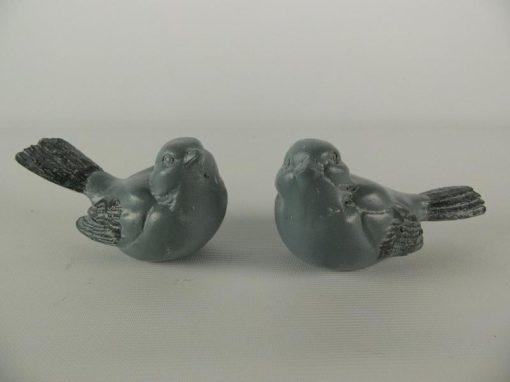 Mussen stel grijs met magneet 9 5cmL
