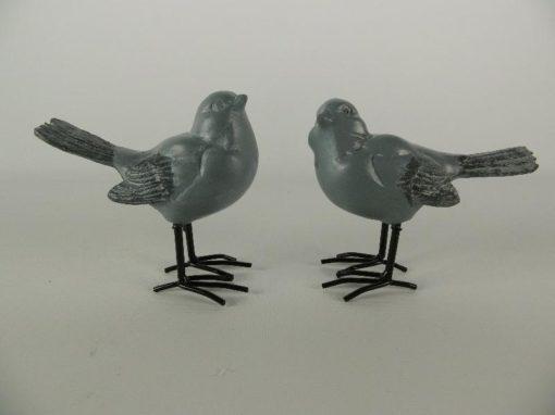 Mussen stel staand grijs 9.5cmH