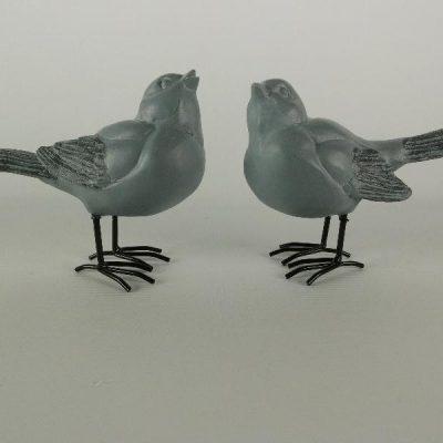 Mussen stel staand grijs 12cmH