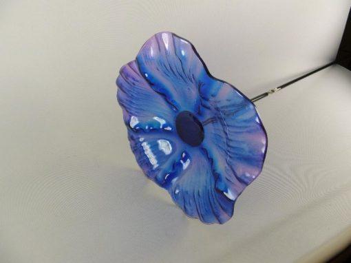 Tuinsteker bloemschaal blauw Ø 26cm