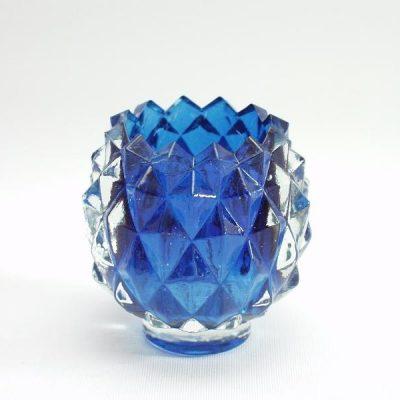 Sfeerlicht ananas blauw 7cmH