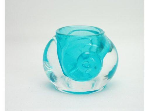 Sfeerlicht klein krul aqua 6.5cmH