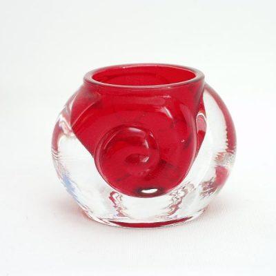 Sfeerlicht klein rood krul 6.5cmH