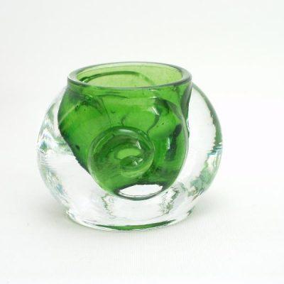 Sfeerlicht klein groen krul 6.5cmH