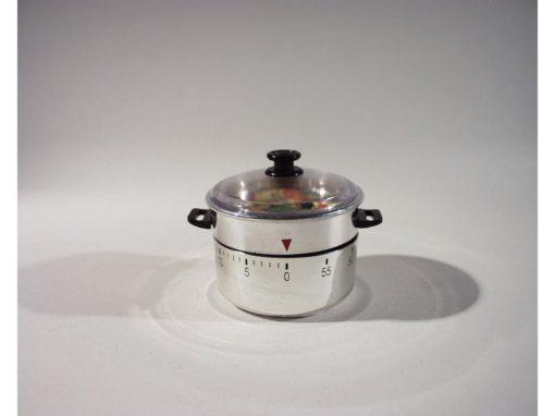 Kookwekker pan met groente 6cmH