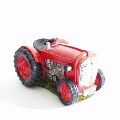 Spaarpot tractor rood 16.5x12x10cmH