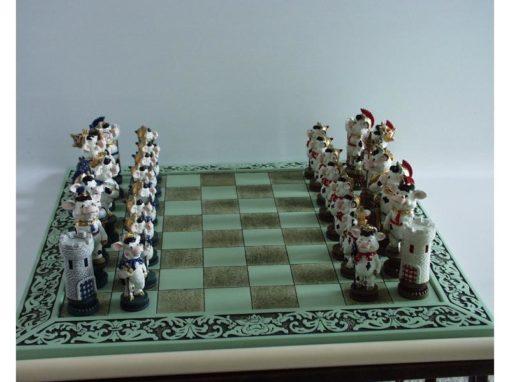 schaakspel koeien 41x41cm