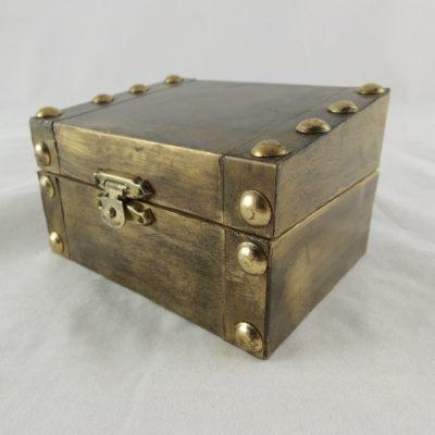 Kistje hout bronskleurig 10x7.5cm
