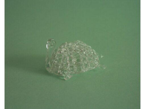 schildpad klein gesponnen glas 4.5cmLx2cmH