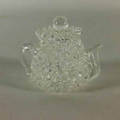 theepot gesponnen glas