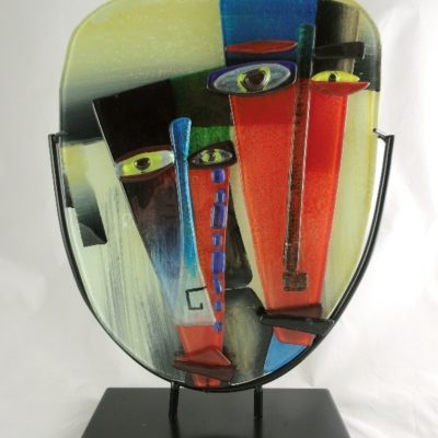 Face double glas in standaard 29x40cmH