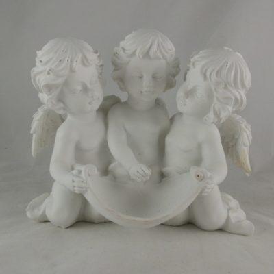 Engeltjes met perkament wit